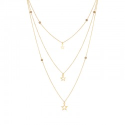 Collier Triple 39-62 or