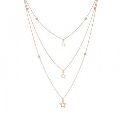 Collier Triple 39-62 rose