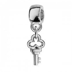 Charms argent clef