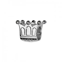 Charms argent couronne