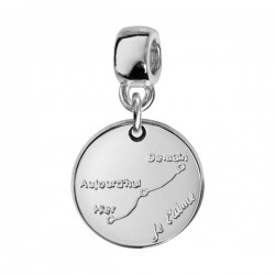 Charms argent courbe d'amour