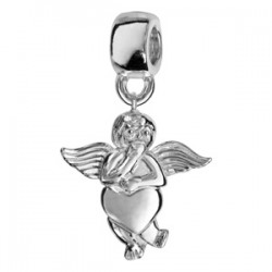 Charms argent angelot