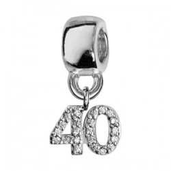 Charms argent 40 ans
