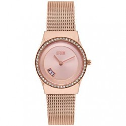 Montre Cyro Crystal rose avec oxydes