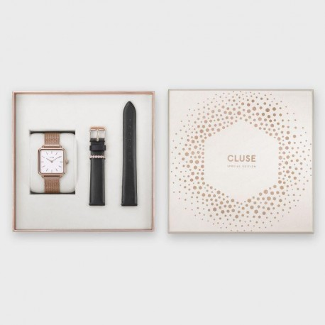 Special Edition La Tétragone Rose Gold Mesh/Black Gift Box - CLUSE