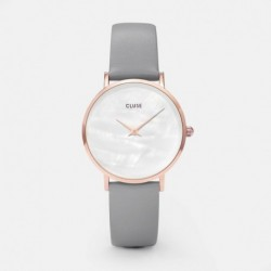 Minuit La Perle Rose Gold White Pearl/Stone Grey - CLUSE