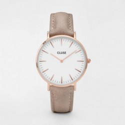 La Bohème Leather Rose Gold White/Hazelnut - CLUSE