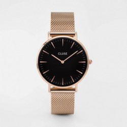 La Bohème Mesh Rose Gold/Black - CLUSE